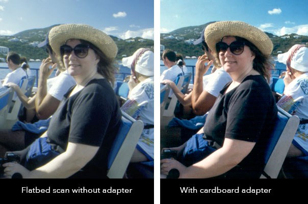 Flatbed Slide Scan Comparison