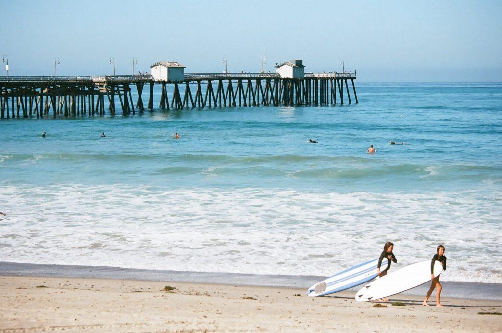 Ektar 100 Canon 1V — at San Clemente Beach and Pier