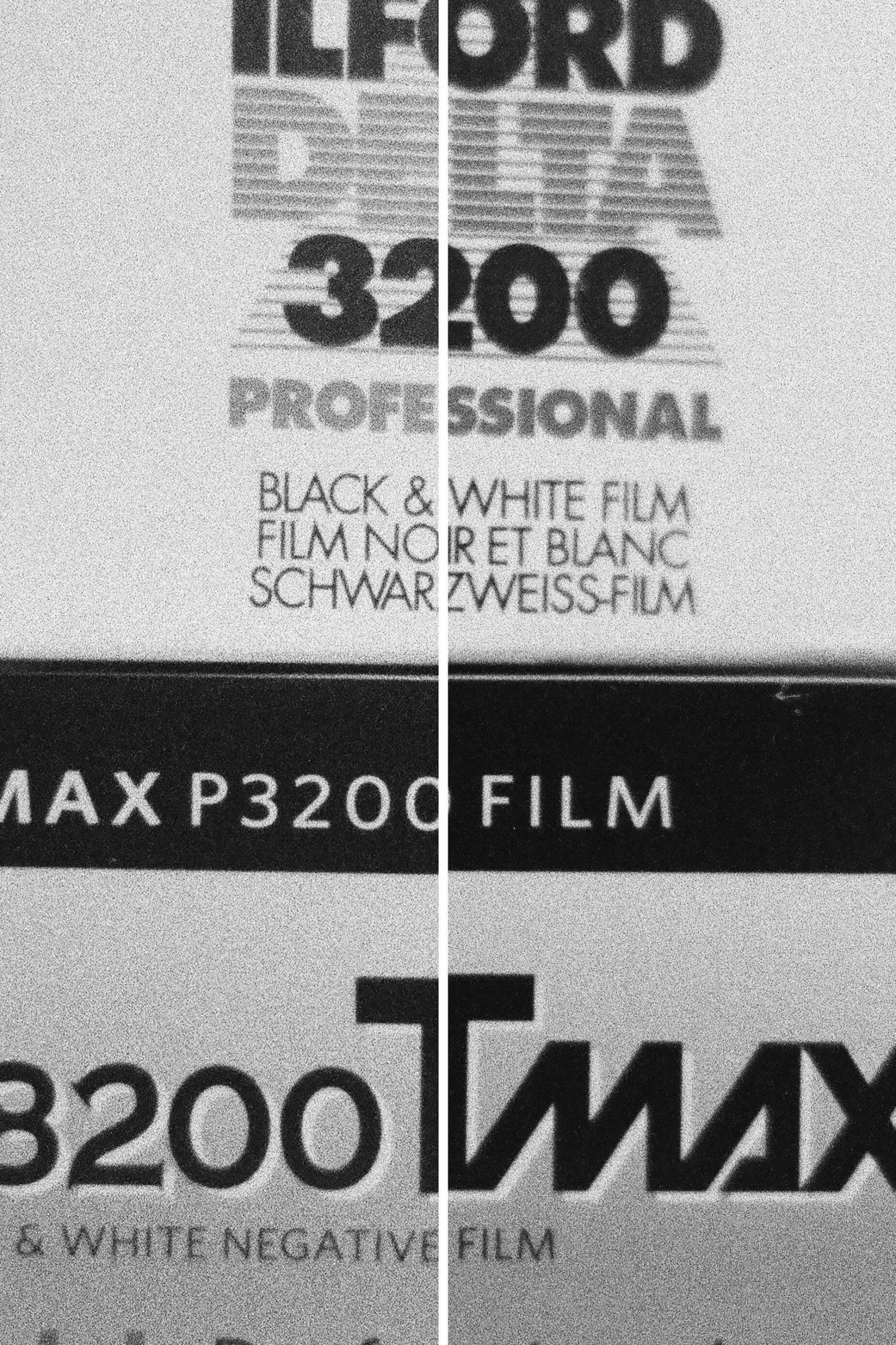Delta 3200 Left   T-MAX P3200 Right