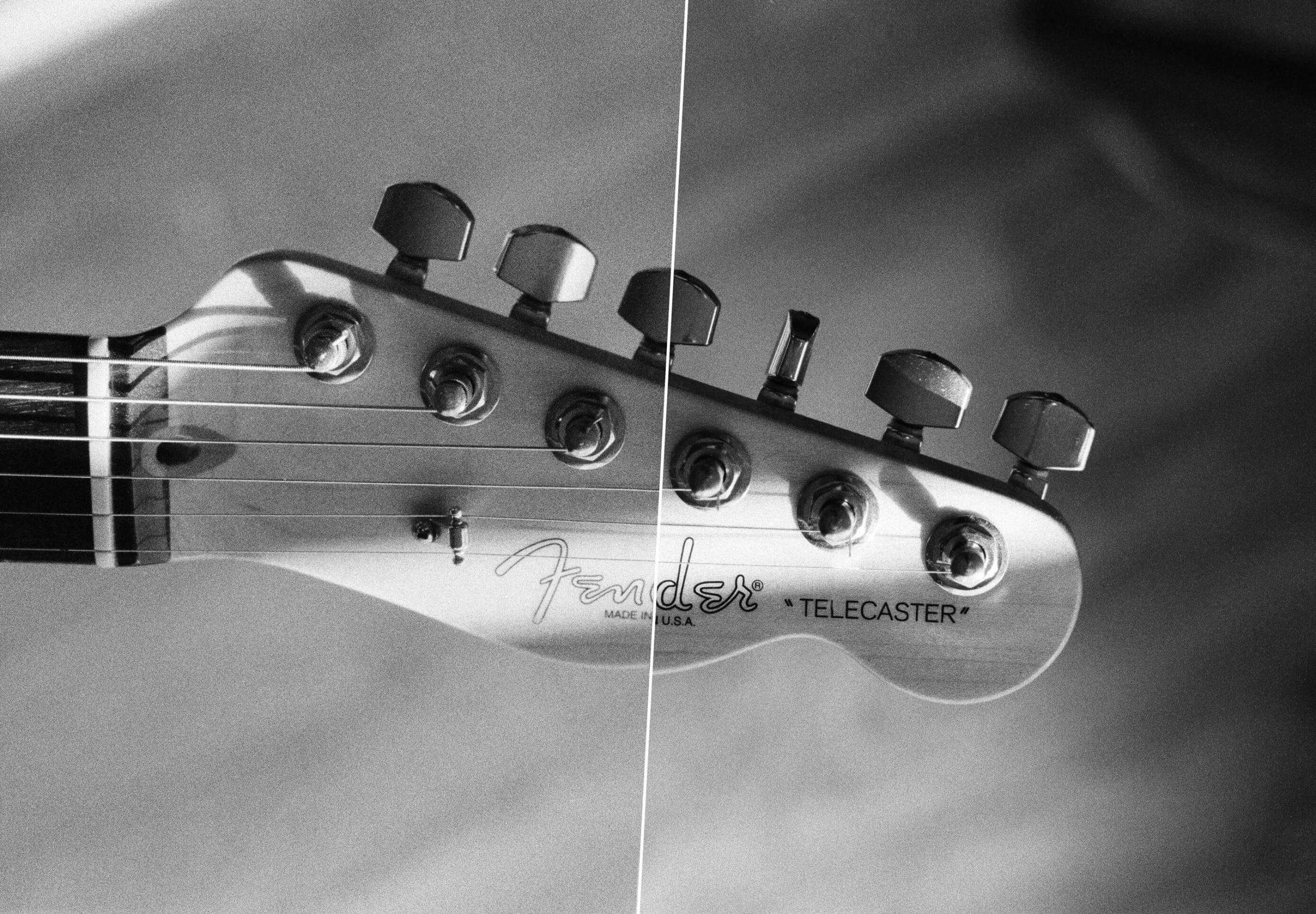 Delta 3200 vs T-MAX P3200 Guitar Photo