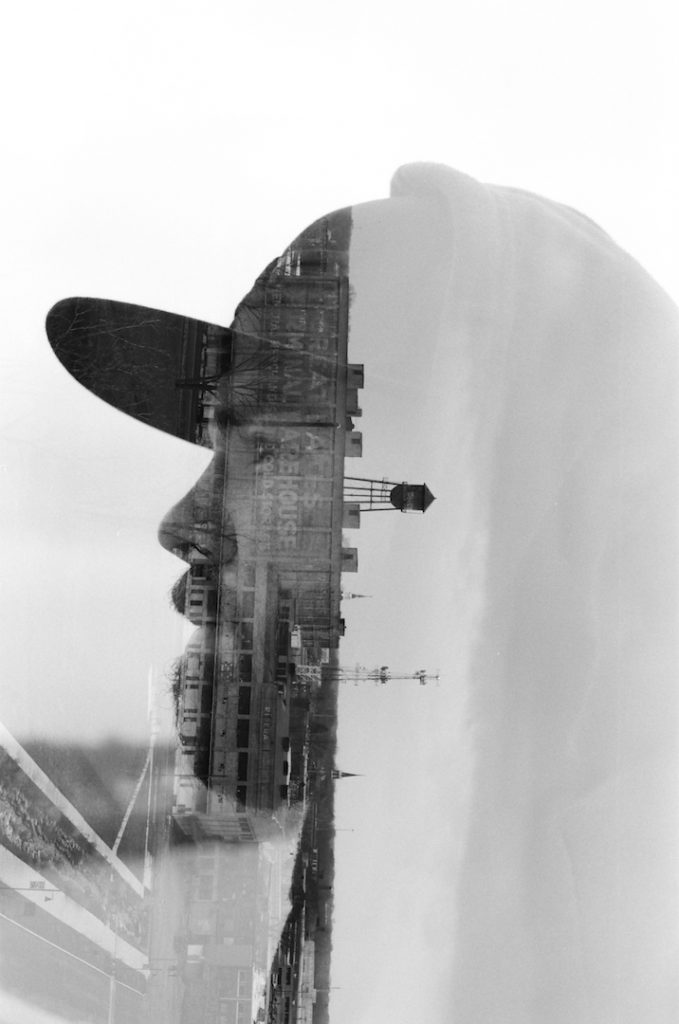 This double exposure was captured on Acros 100