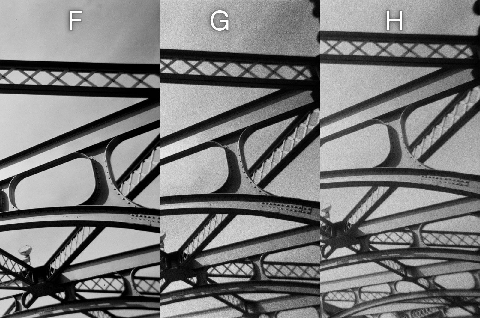 Disposable Single Use Cameras B&W Photo Comparison - Bridge2