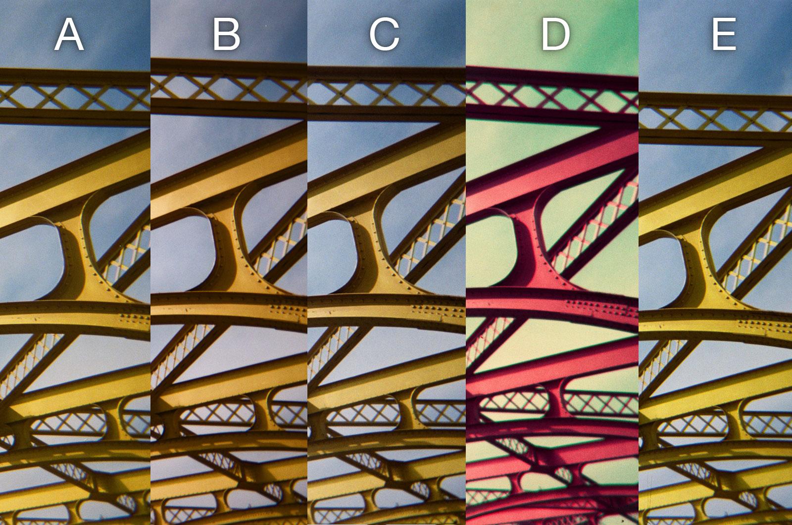 Disposable Cameras Comparison - Bridge