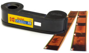 110 Film Cartridge with developed negatives