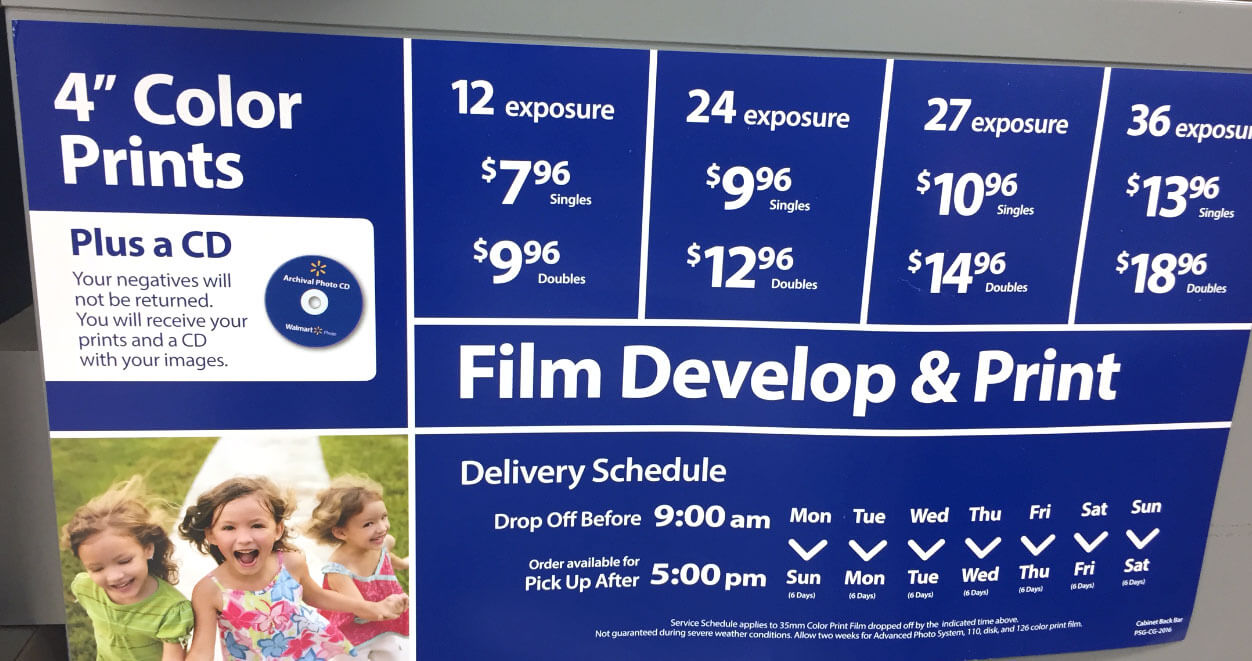 Walmart Photo Center Prices and Delivery Schedule