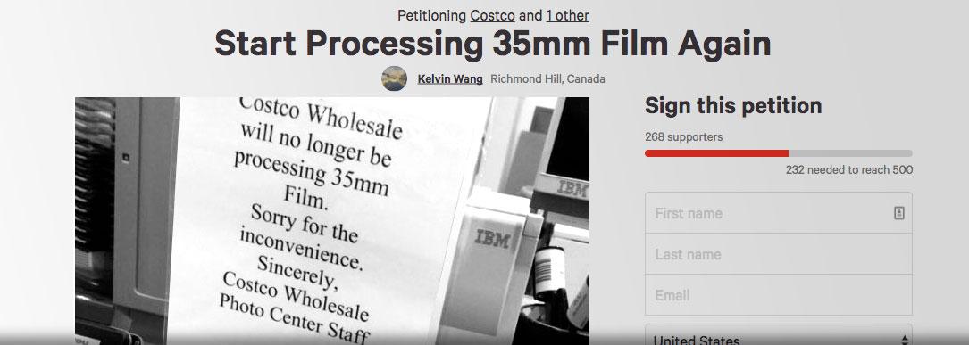 Costco Photo Center stops developing film