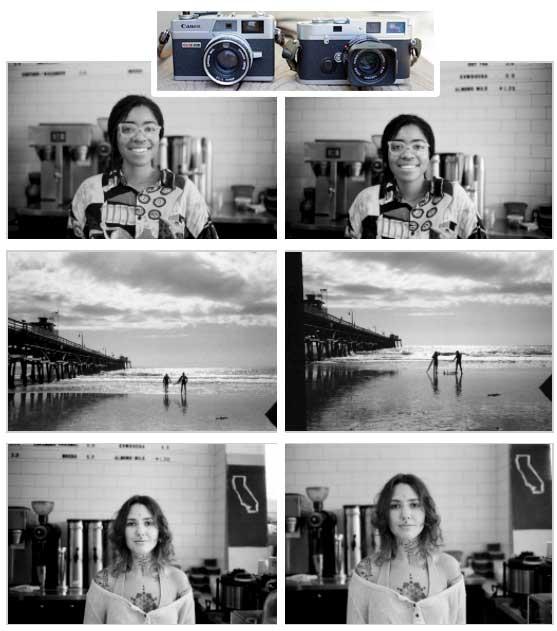 Leica vs. Canonet Black and White Comparison