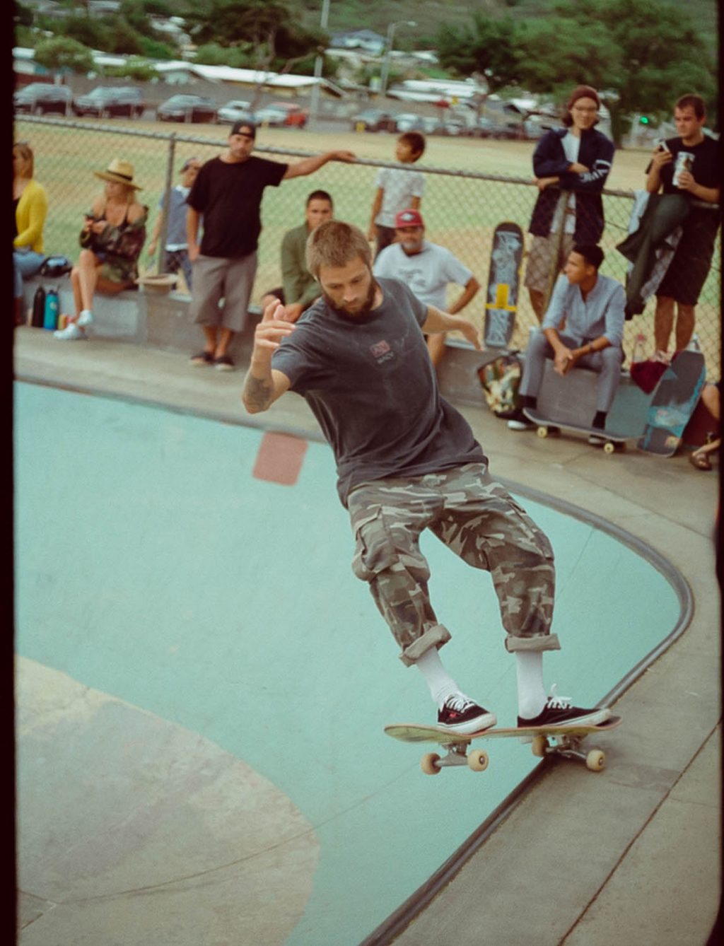 Here's another shot from the RVCA Skate event in Hawaii. 50D at box speed on my Olympus Pen FT.