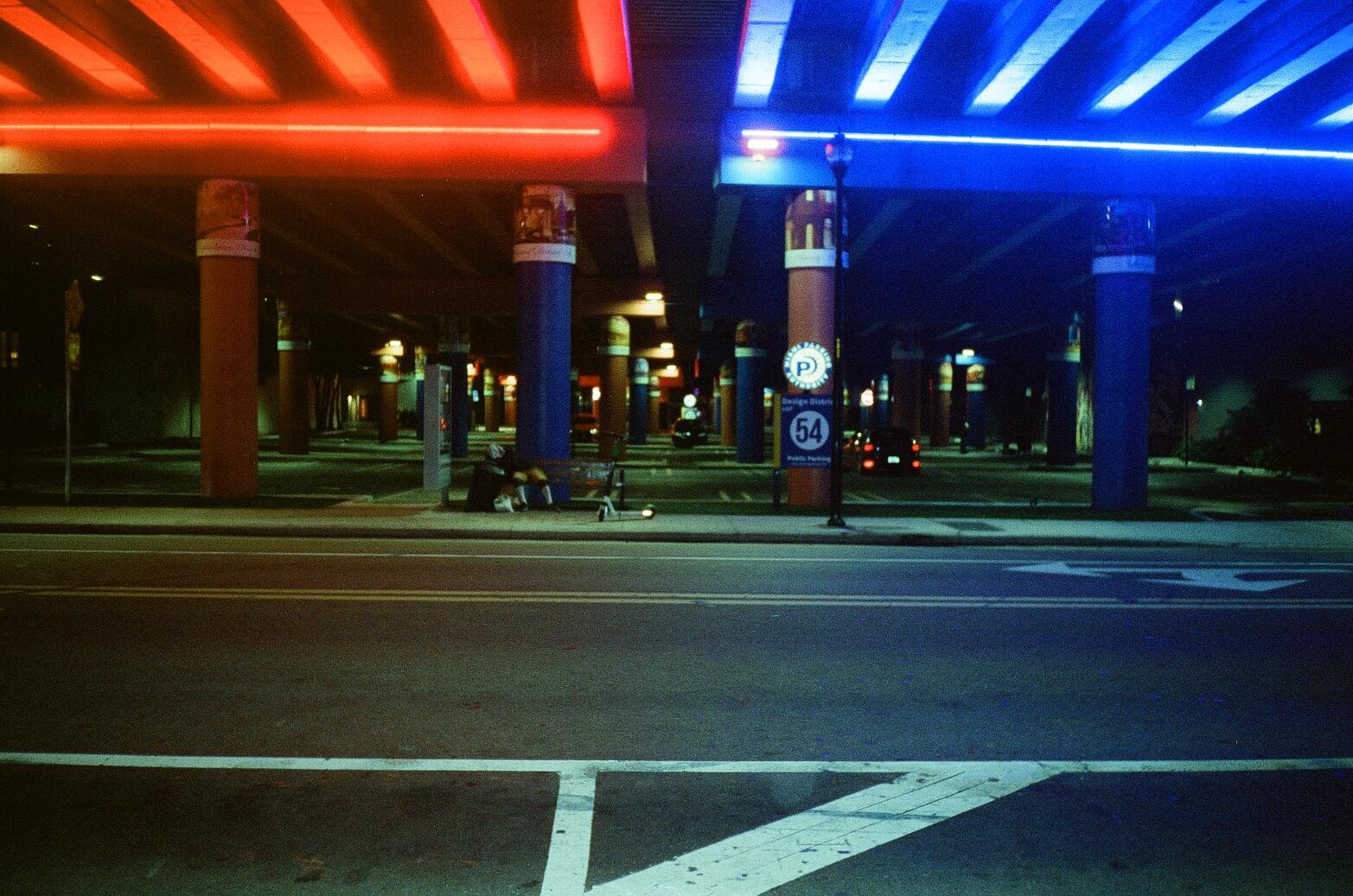 Minolta Freedom 100 at night, shot at 400 ISO Miami, FL
