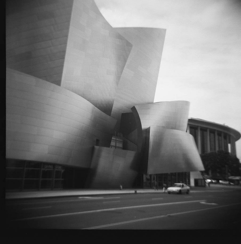 Downtown Los Angeles. Taken with a Diana F+ toy camera.