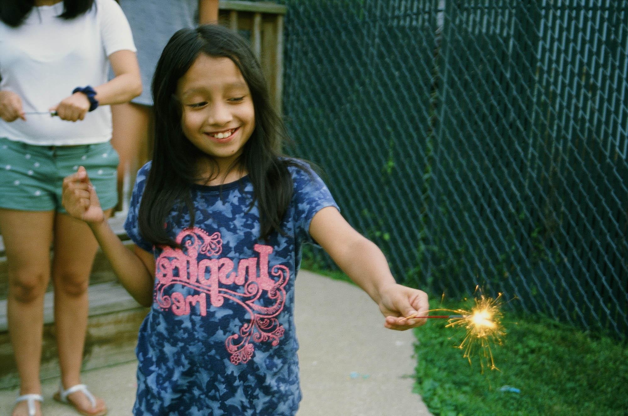This is a 4th of July photo taken on the new Kodak Ektachrome 100.