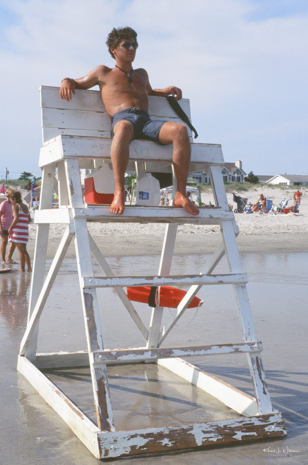Lifeguard, Avalon Beach, 7 Mile Island, Avalon, New Jersey.