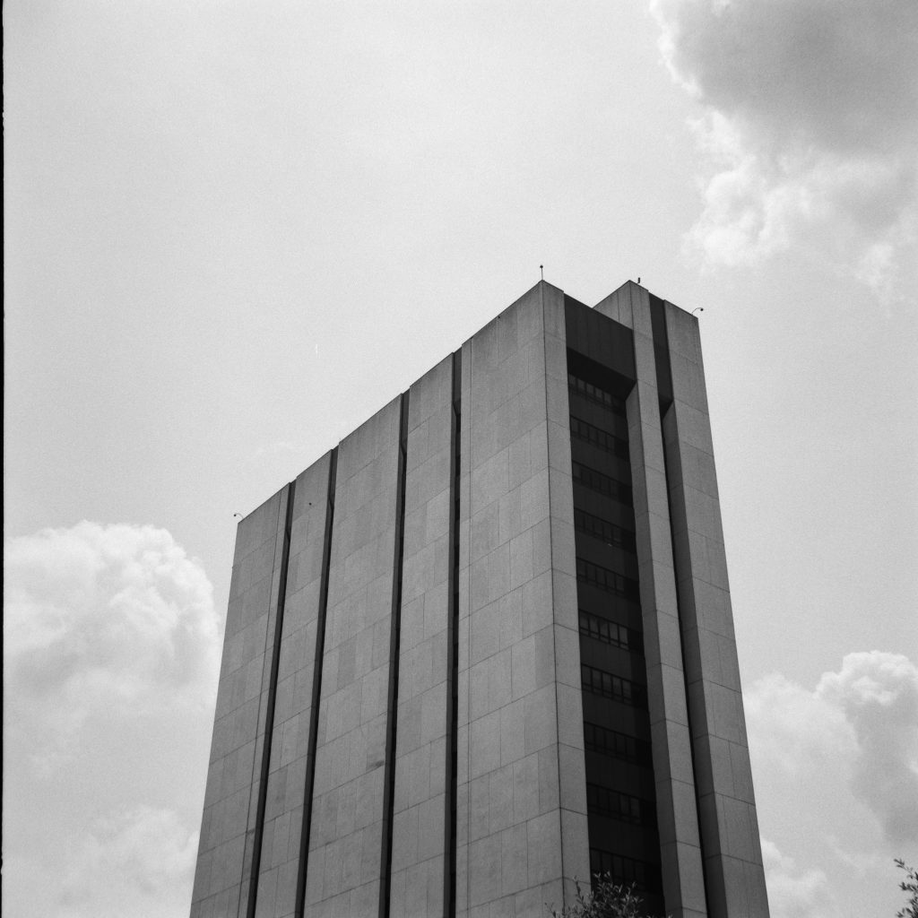 Shot with a Yashica A and Iford Fp4+ at box speed.
