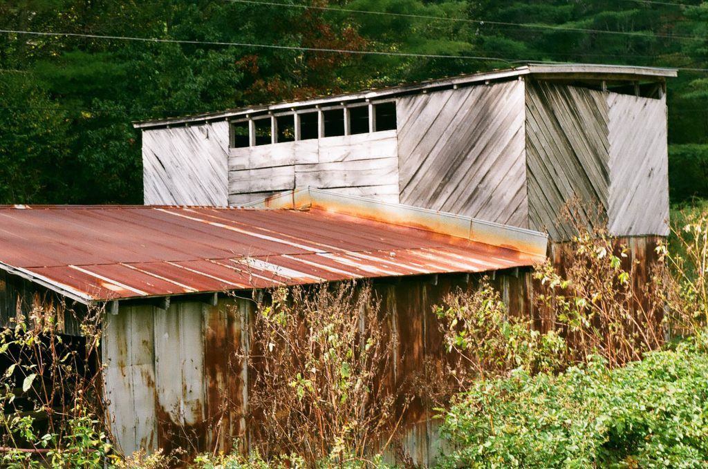 A barn deep in the mountains of North Carolina