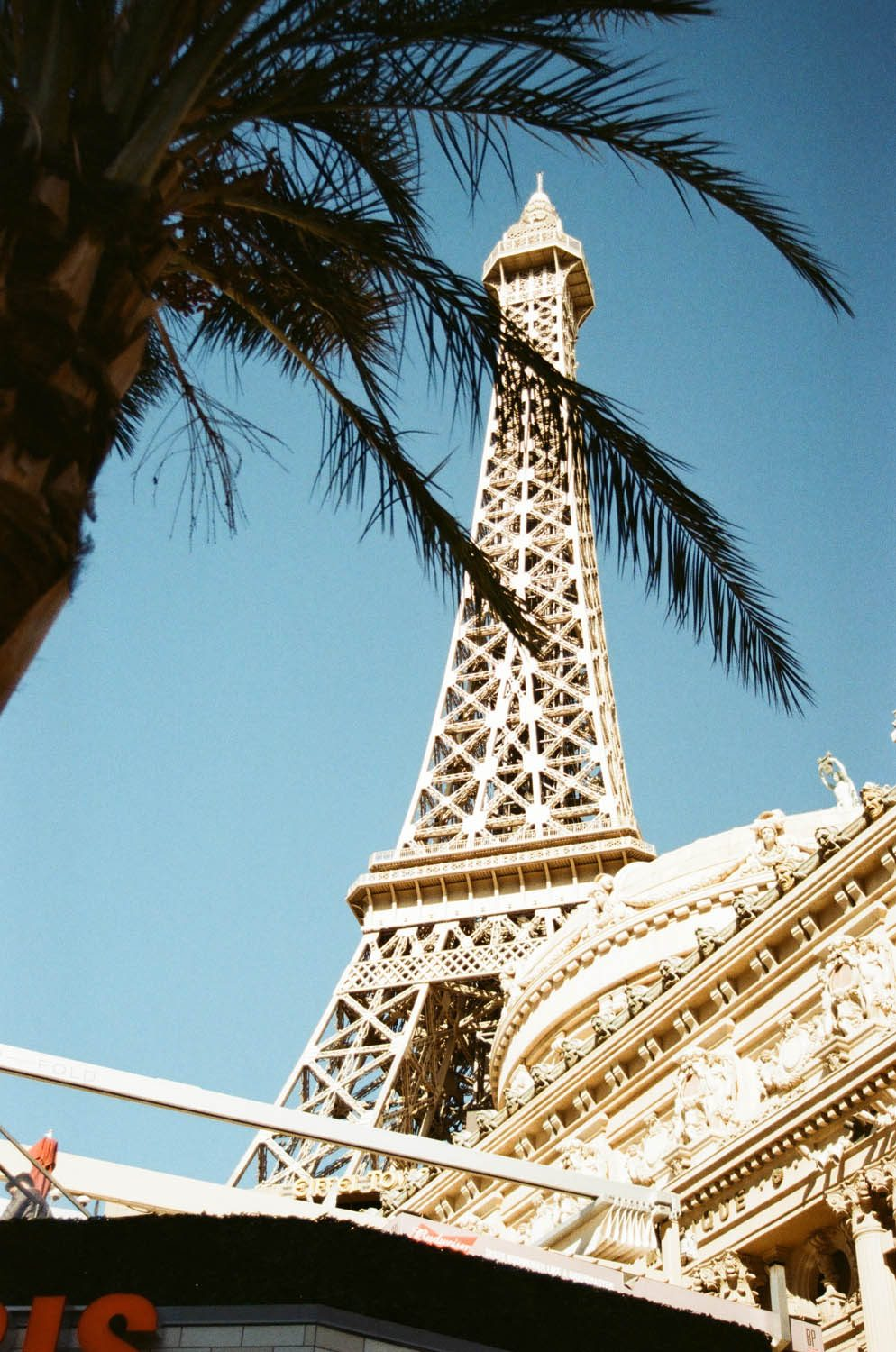 The Eiffel Tower on the Las Vegas Strip. Expired Kodak Gold 200, Pushed 1 stop. Guessing the expiration date was 15-20 years ago, but not sure.