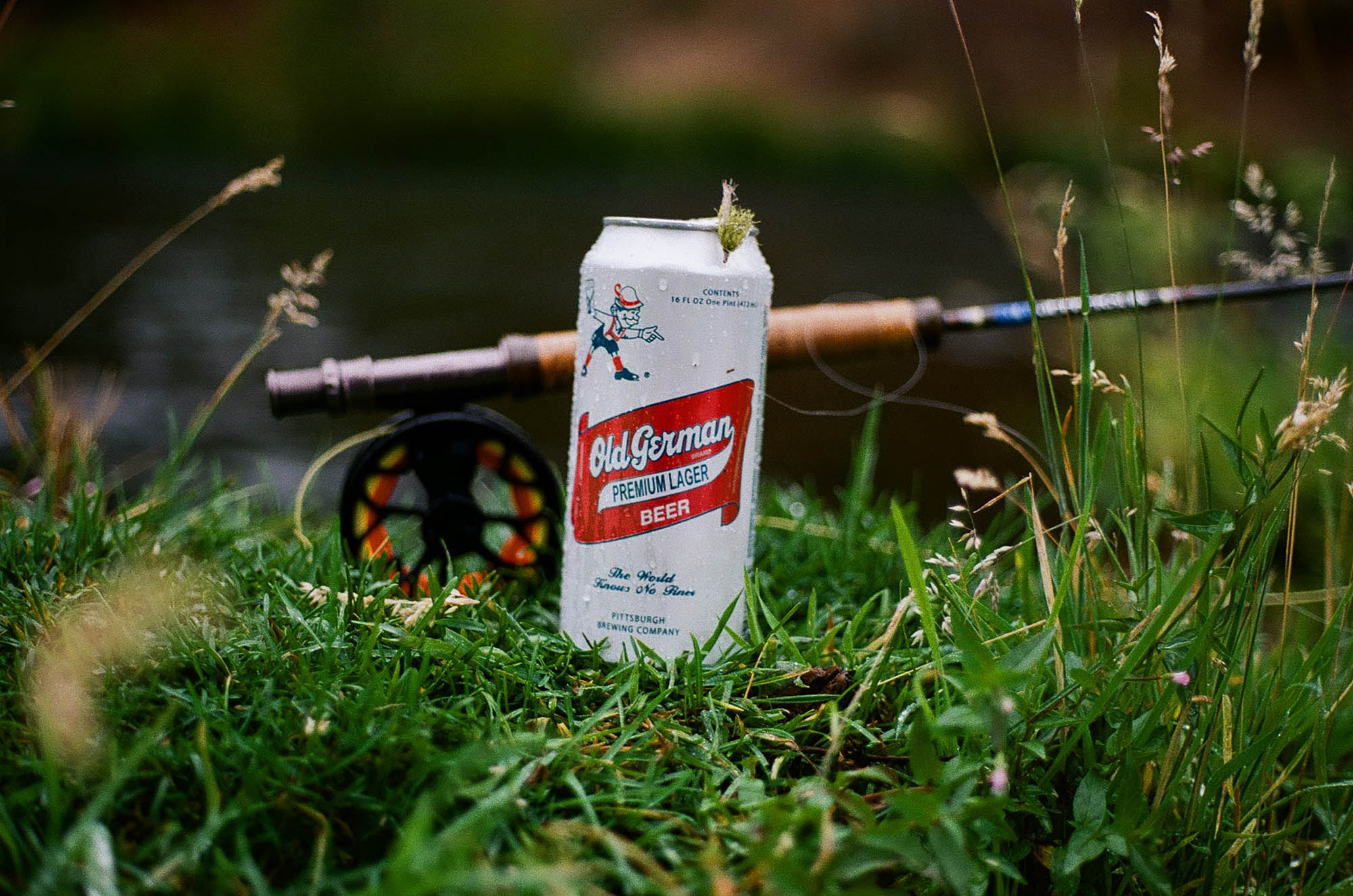 Lomography 400 ~ Canon AE-1 ~ Canon 50mm F1.8 Beer and a fly rod, my kind of day out