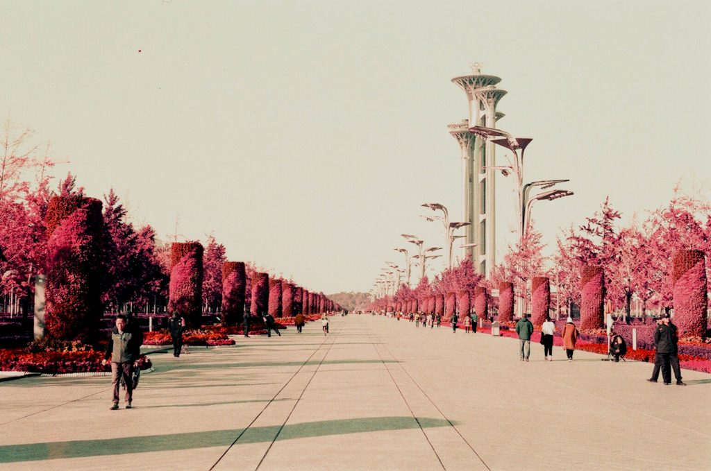 Olympic Avenue in Beijing, a little post work done but not much.