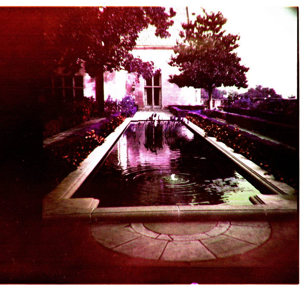 Greystone mansion with one of my toy cameras, probably a Holga.