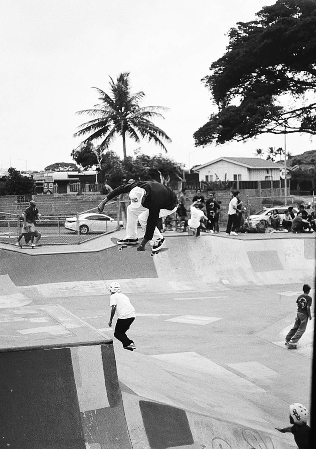 This was my first time shooting Ortho Plus. I shot it at ISO 100 on my Olympus PenFT at the RVCA Skate event in Hawaii.