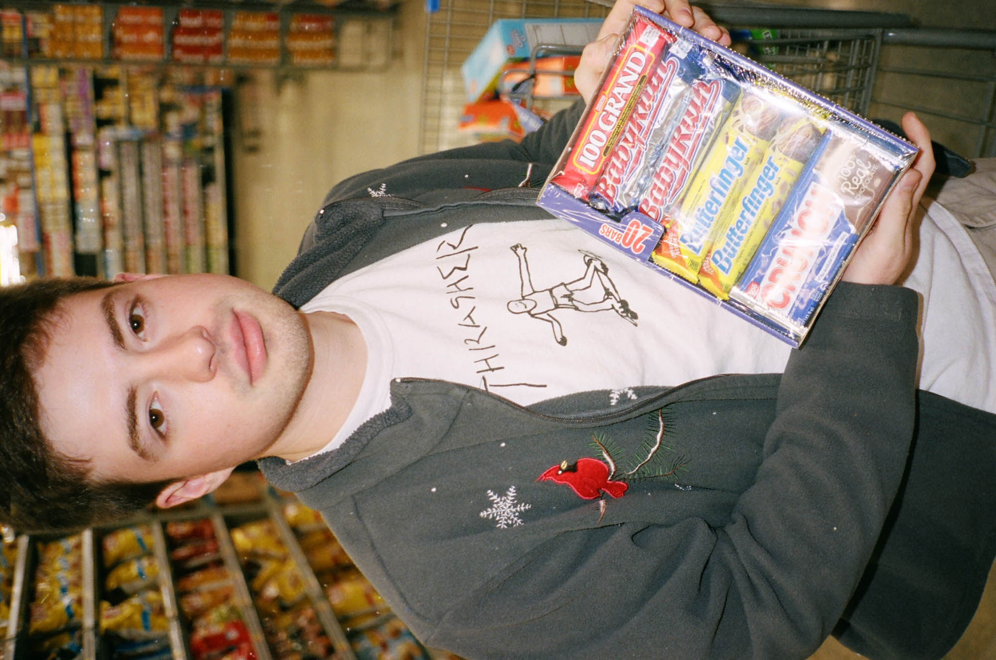 Me and my friend Cameron going candy shopping at Wal-Mart.