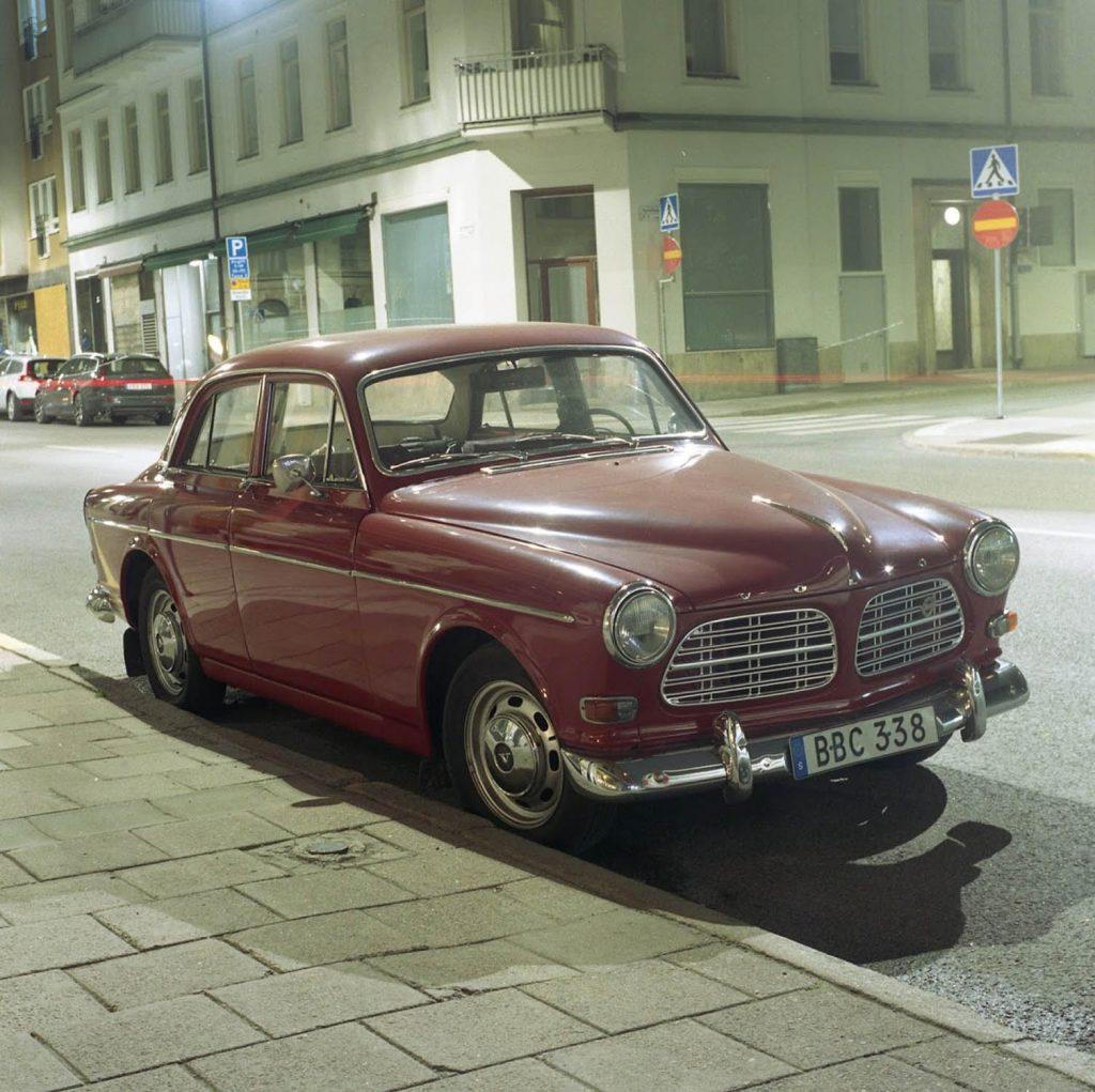 Portra 400: Old Volvo - Stockholm, Sweden/Yashica Mat 124G/30 sec exposure, f16