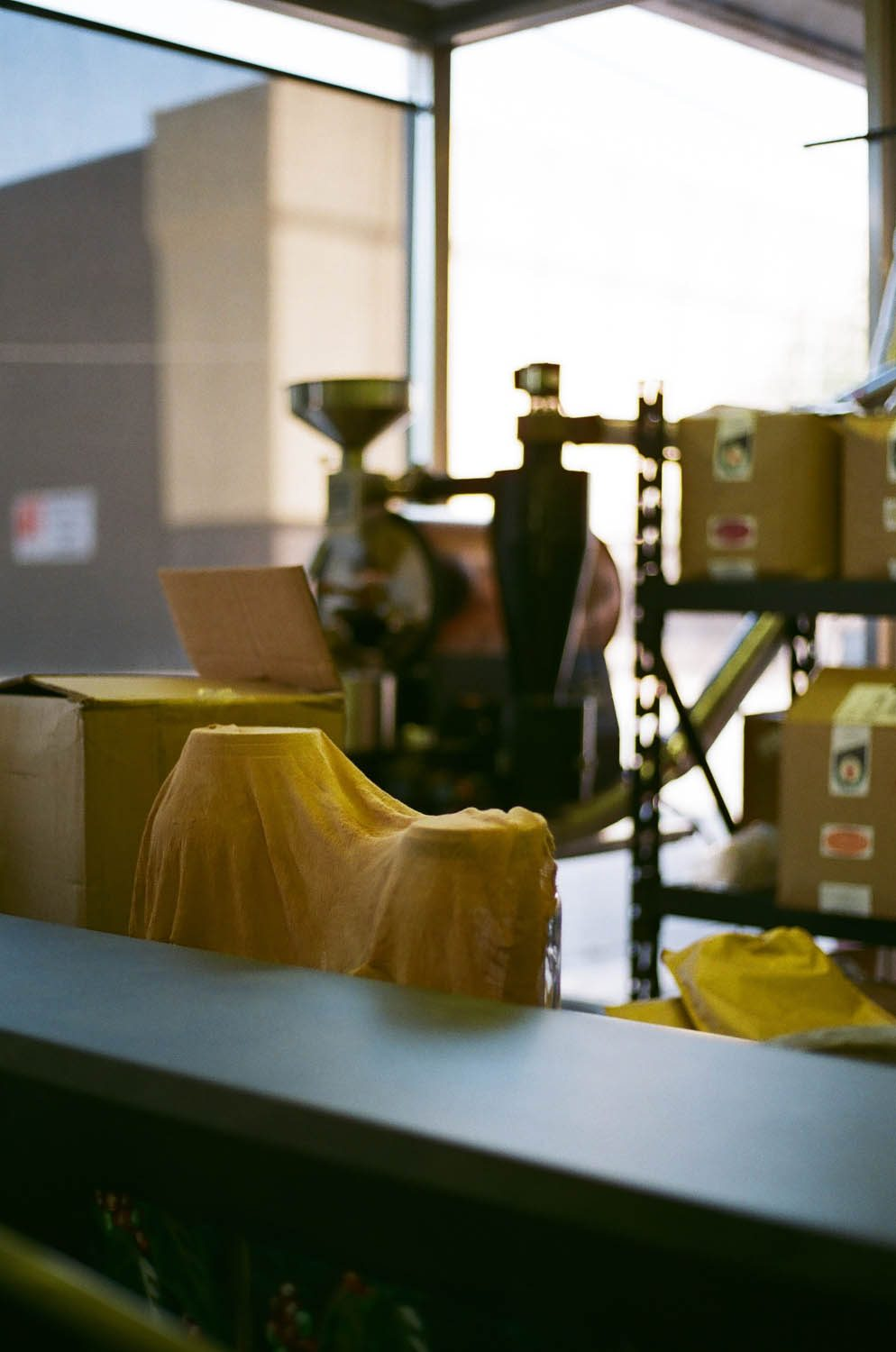 Some equipment at a local coffee shop in Wichita Falls, Texas. Shot at 200, developed at 320.