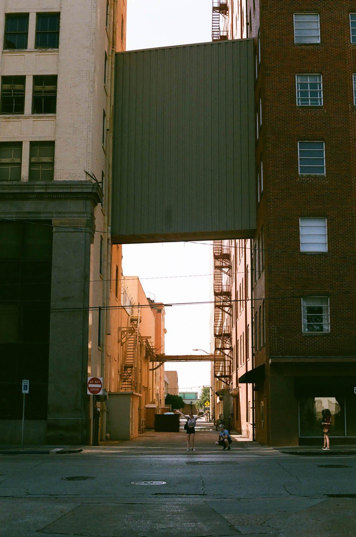 An alleyway in Wichita Falls, Texas. Shot at 200, developed at 320.