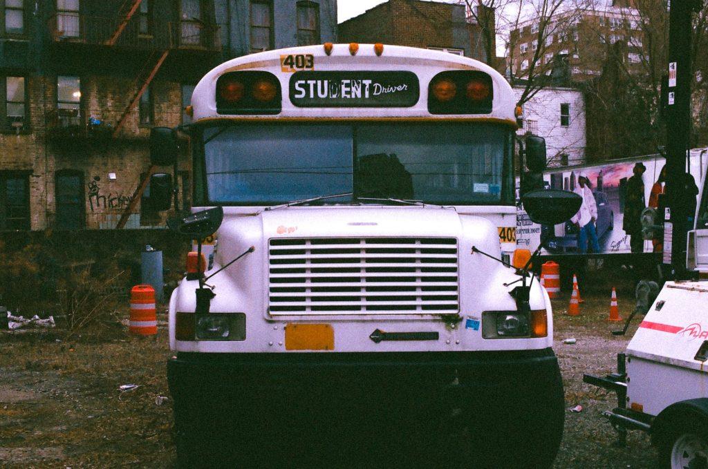 Abandoned bus-50mm nippon kogaku lens (Nikkor) nikon photomic fm2