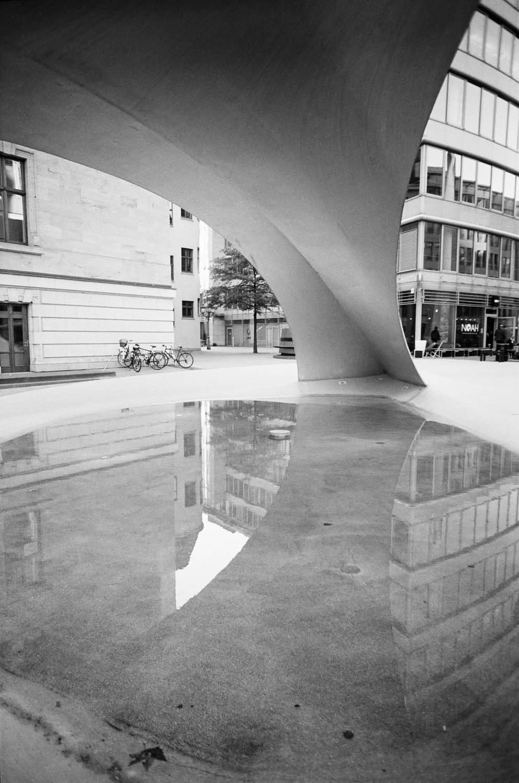 Rain Reflections. Leica M2, MS Optical 24mm f/4 Perar. XTOL stock @20°C, box speed. Slight adjustments in LR.