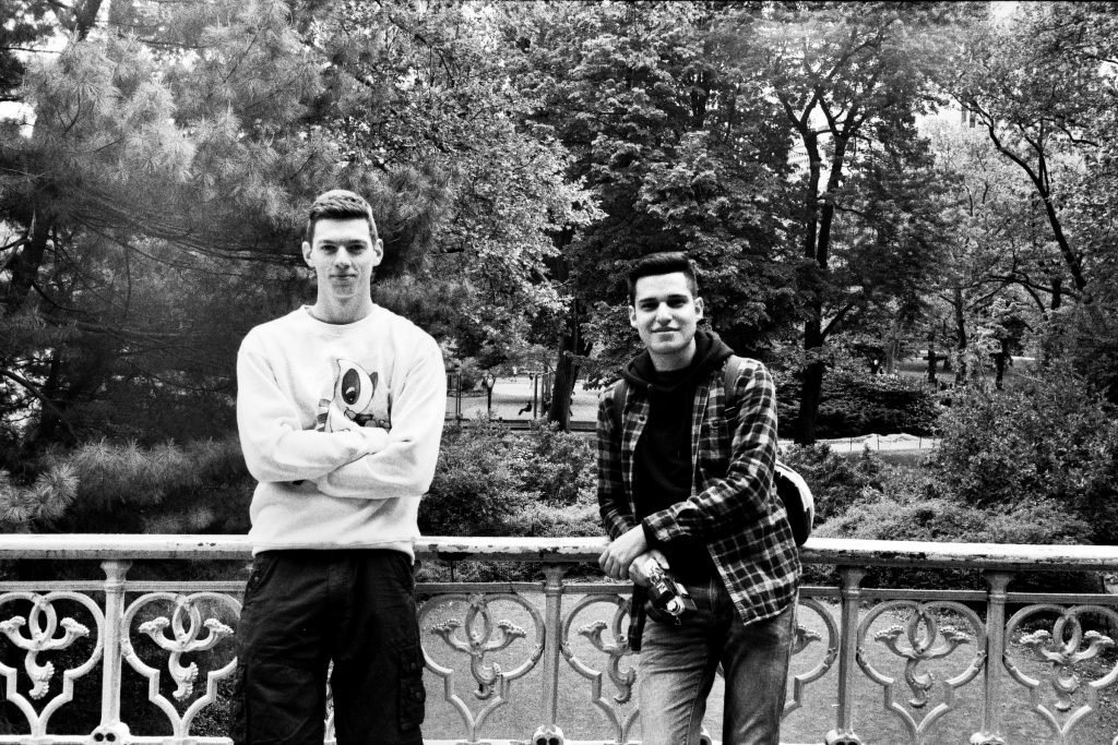 Some dudes smiling for the camera. Tmax is perfect for portraits if you want that sharpness! Shot on a Yashica Electro 35