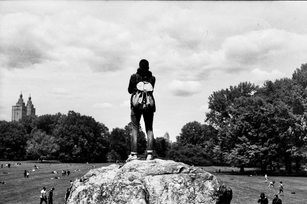 Looking over the great lawn of Central Park. Shot on a Yashica Electro 35