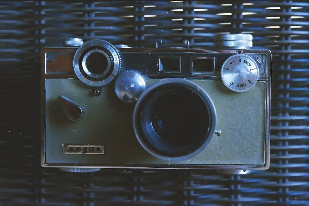 One of my old film cameras taken with a Ricoh KR-5.