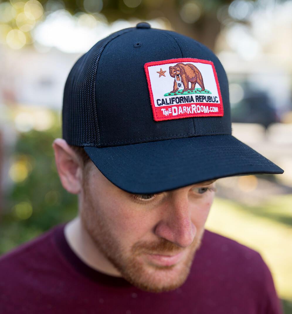 Black Retro Trucker Hat